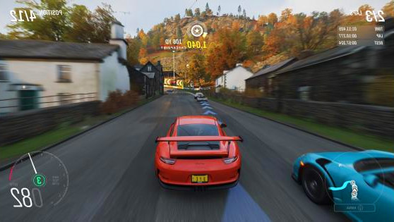 photo du jeu video de simulation voiture forza