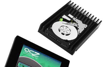 photo qui montre un disque dur et un autre ssd