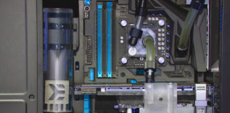 photo d'un watercooling sur un pc